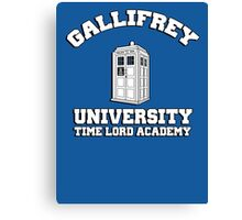 Gallifrey university time lord academy Canvas Print