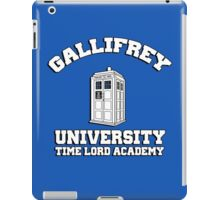 Gallifrey university time lord academy iPad Case/Skin
