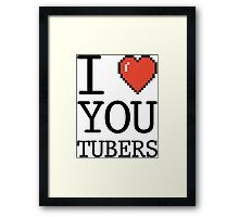 I LOVE YOUTUBERS Framed Print
