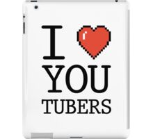 I LOVE YOUTUBERS iPad Case/Skin