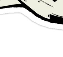 Space Shuttle in flight Sticker