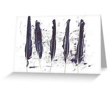 Five Ravens Greeting Card