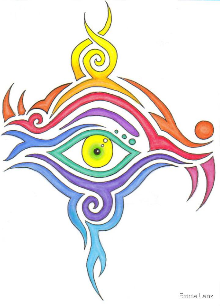 rainbow eye by Emma Lenz