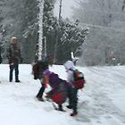 Bus Stop Blizzard by Geno Rugh