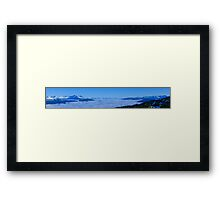 Monashee Mountains view  Framed Print