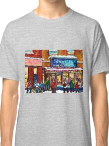 MONTREAL VINTAGE CANDY STORE STILWELL'S WITH SHOPPERS Classic T-Shirt