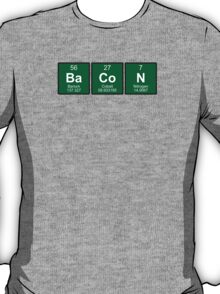 Bacon written with periodic table elements T-Shirt