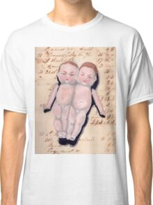 Vintage Bisque Conjoined Twins in Gouache Classic T-Shirt