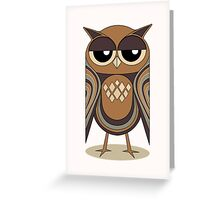 THE UNDERSTANDING OWL Greeting Card