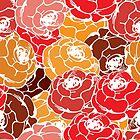 Vintage rose pattern by Richard Laschon