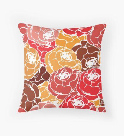 Vintage rose pattern Throw Pillow