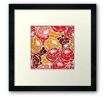 Vintage rose pattern Framed Print