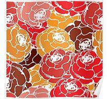 Vintage rose pattern Poster