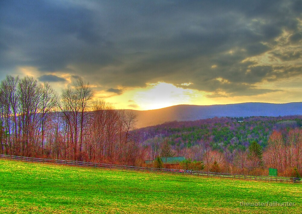 Pownal Vermont Sunrise by thewaterfallhunter