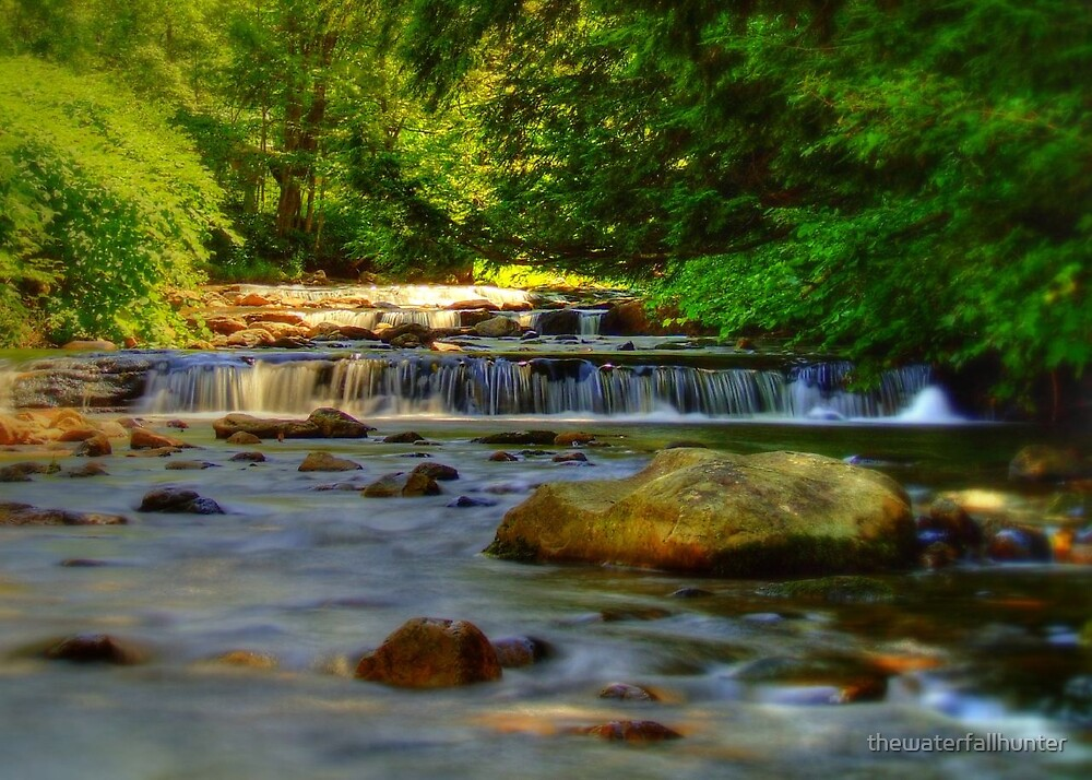 Hidden Falls at Candle Mill Village  by thewaterfallhunter