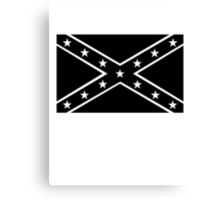 Confederate, Rebel, Dixie Flag, Mourning, BLACK, Pre USA, America, American Canvas Print
