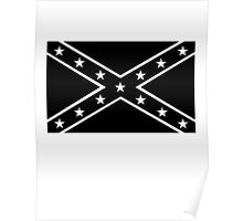 Confederate, Rebel, Dixie Flag, Mourning, BLACK, Pre USA, America, American Poster