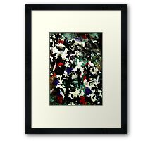 Trouble contemporary abstract painting black peril Framed Print
