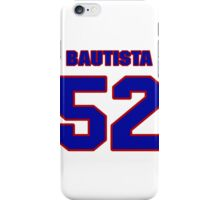 National baseball player Denny Bautista jersey 52 iPhone Case/Skin
