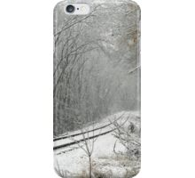Tracks Into The Snow Storm iPhone Case/Skin
