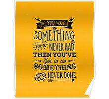 Motivational Quote Typography Vintage Dusty Ink Print Poster