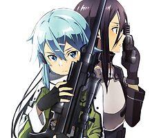 Gun Gale Online - Kirito Sinon by SyAngel