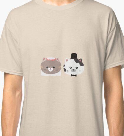Cat Wedding Couple Rn557 Classic T-Shirt