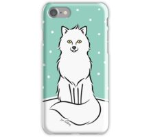 White Fox iPhone Case/Skin