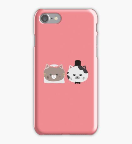 Cat Wedding Couple Rn557 iPhone Case/Skin