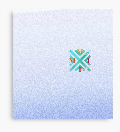 MMII Blue-Purple-White Gradient Distortion Canvas Print