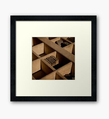 Type Tray Framed Print
