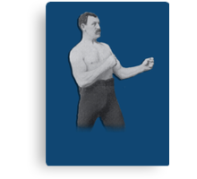 Overly Manly Man meme boxer Canvas Print