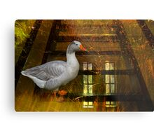 Goosy Goosy Gander Whither shall I wander Metal Print