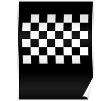 Checkered Flag, Racing Cars, Race, Finish line, BLACK Poster
