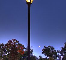 Moonlit Street Lamp by thewaterfallhunter