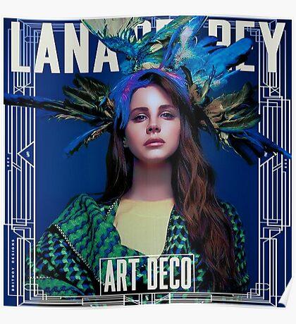 Lana Del Rey - Art Deco Poster