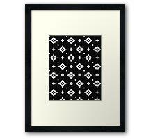 Arizona - tribal black and white native design in geometric blocks Framed Print