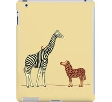 Ziraffe and gebra iPad Case/Skin