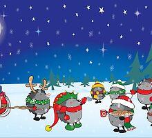 Hedgehog's Christmas magic by mangulica