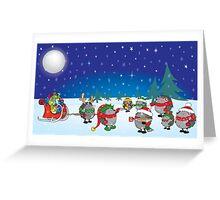 Hedgehog's Christmas magic Greeting Card
