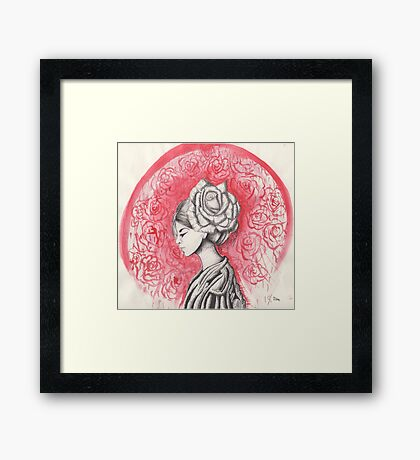 Colorless rose Framed Print