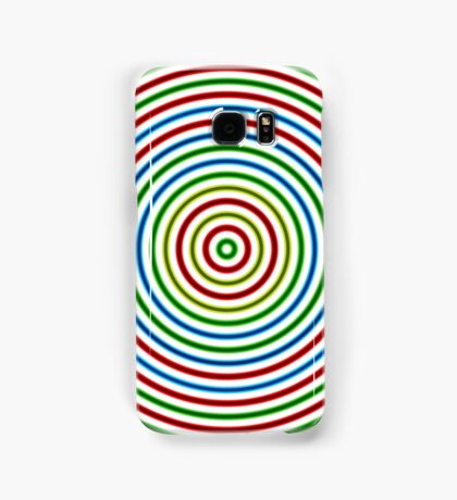 Vibrating Concentric Color Circles Samsung Galaxy Case/Skin