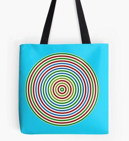 Vibrating Concentric Color Circles Tote Bag