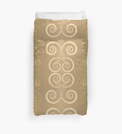 Art nouveau, vintage,art deco, gold,bronze,pattern,swirl,wavy,geometric Duvet Cover