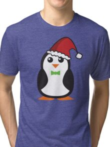 Christmas Penguins Tri-blend T-Shirt