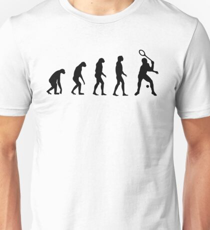 Evolved to Play Tennis Unisex T-Shirt
