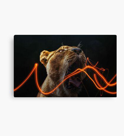 Lion Electro Canvas Print