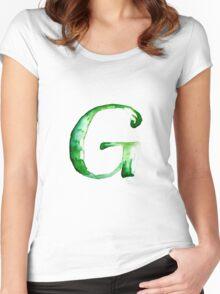 Alphabet G Women's Fitted Scoop T-Shirt