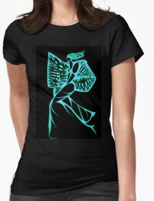 Blue Warrior Princess  Womens Fitted T-Shirt