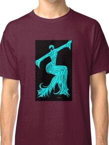 Blue Fire Girl Classic T-Shirt